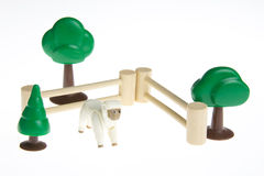 Plastic toy farm animals Royalty Free Stock Images