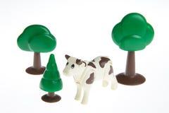Plastic toy farm animals Royalty Free Stock Photo