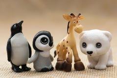 Plastic toy figurines Stock Image