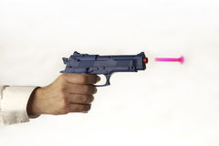 Plastic toy gun Royalty Free Stock Images