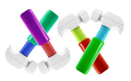 Plastic Toy Hammers Stock Images