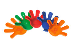 Plastic Toy Hands Royalty Free Stock Photos