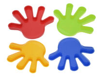 Plastic Toy Hands Stock Images