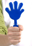 Plastic toy hands Royalty Free Stock Images
