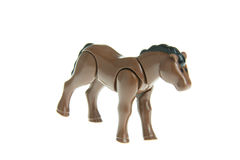 Plastic toy horse Stock Images