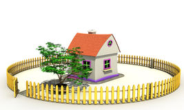 Plastic toy house №1 Royalty Free Stock Photos