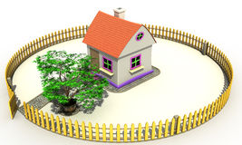 Plastic toy house №2 Stock Photography