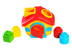 Plastic Toy House with Shapes Stock Photos