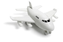 Plastic toy jet plane Stock Photos