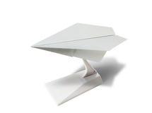 Plastic toy jet plane. Plastic toy passenger jet plane on white background Royalty Free Stock Photography