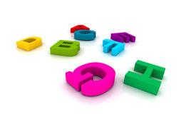 Plastic toy letters Royalty Free Stock Photography