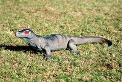 Plastic toy lizard stock image