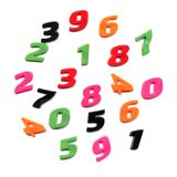 Plastic toy numbers Royalty Free Stock Image
