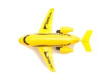 Plastic toy passenger jet plane Royalty Free Stock Image