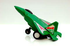 Plastic toy plane Royalty Free Stock Photo