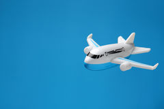 Plastic toy plane background Stock Photography