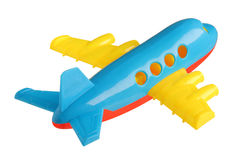 Plastic toy plane. Isolated on white background Royalty Free Stock Photography