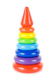 Plastic toy pyramid Royalty Free Stock Image