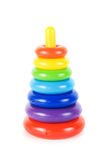 Plastic toy pyramid Royalty Free Stock Photo