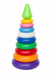 Plastic toy pyramid Stock Image