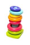 Plastic toy pyramid Royalty Free Stock Image