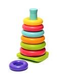 Plastic toy pyramid Royalty Free Stock Photo
