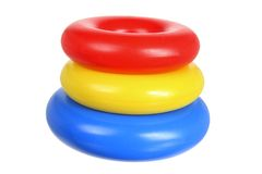 Plastic Toy Rings Royalty-vrije Stock Afbeelding