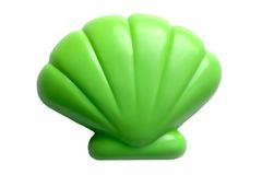 Plastic toy seashell stock images