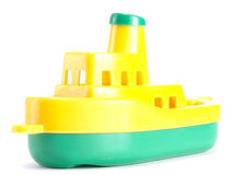 Plastic toy ship Royalty Free Stock Image