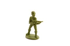 Plastic toy soldier Stock Image