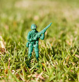Plastic toy soldier Royalty Free Stock Photos