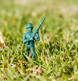 Plastic toy soldier Royalty Free Stock Photo