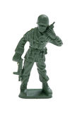 Plastic toy soldiers isolated on white Royalty Free Stock Photo