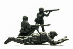 Plastic toy soldiers royalty free stock image