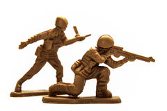 Plastic toy soldiers Stock Photography