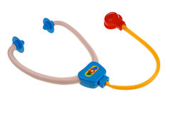 Plastic toy stethoscope Royalty Free Stock Photos