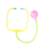 Plastic toy stethoscope isolated Royalty Free Stock Photography