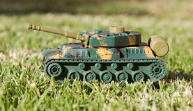 Plastic toy tank Stock Photography