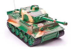 Plastic toy tank Royalty Free Stock Image