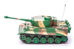 Plastic toy tank Stock Images