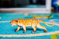 Plastic toy tiger Royalty Free Stock Images