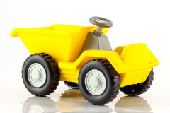 A plastic toy tip truck Stock Images