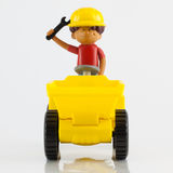 A plastic toy tip truck Royalty Free Stock Photo