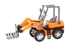 Plastic toy tractor Stock Photos