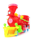 Plastic toy train Royalty Free Stock Photo
