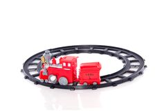 A plastic toy train Royalty Free Stock Images