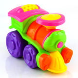 Plastic toy train Stock Photos