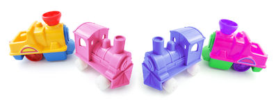 Plastic Toy Trains Stock Photo