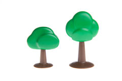 Plastic toy tree Royalty Free Stock Photography