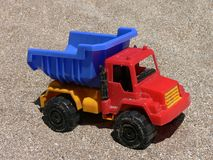 Plastic toy truck Royalty Free Stock Images